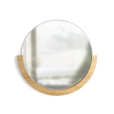 "30"" Mira Natural Decorative Wall Mirror Light Brown - Umbra"