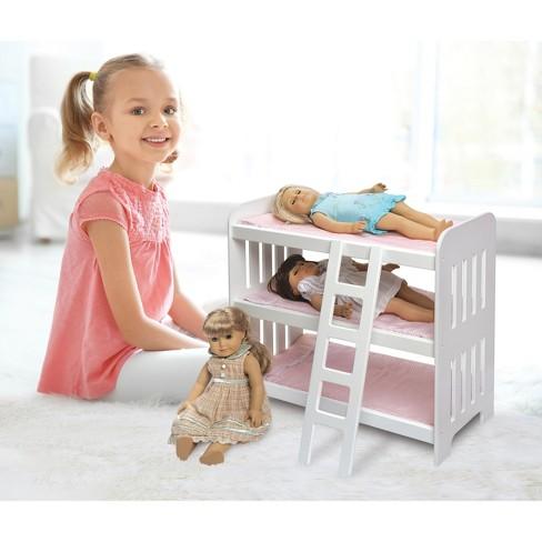 Badger Basket Triple Doll Bunk Bed With Ladder Target