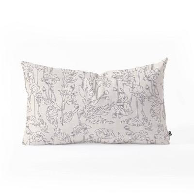 "23""x14"" Holli Zollinger Poppy Oblong Throw Pillow Beige - Deny Designs"