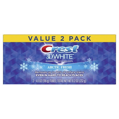 Crest 3D White Arctic Fresh Whitening Toothpaste, Icy Cool Mint, 4.1 oz (Pack of 2)