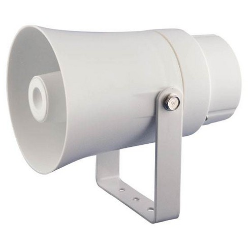 PYLE Aluminum 5.6 Inch Indoor and Outdoor PA Horn Speaker 70 Volt 8 Ohms, White - image 1 of 4