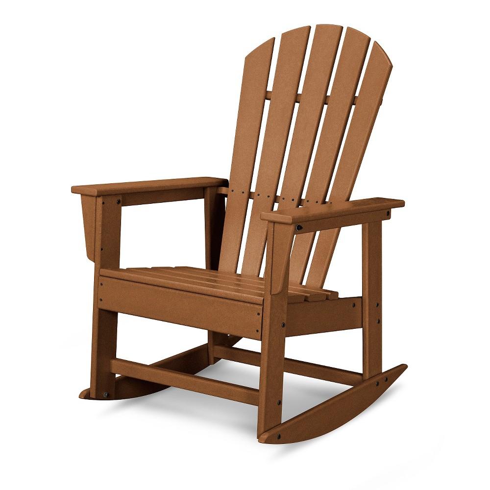 Polywood South Beach Patio Rocking Chair - Teak (Brown)