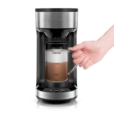 Chefman K-Cup Single-Serve Froth + Brew Coffee Maker - Silver
