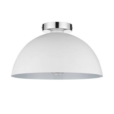 Brady Semi-Flush Mount Ceiling Light Matte White - Globe Electric