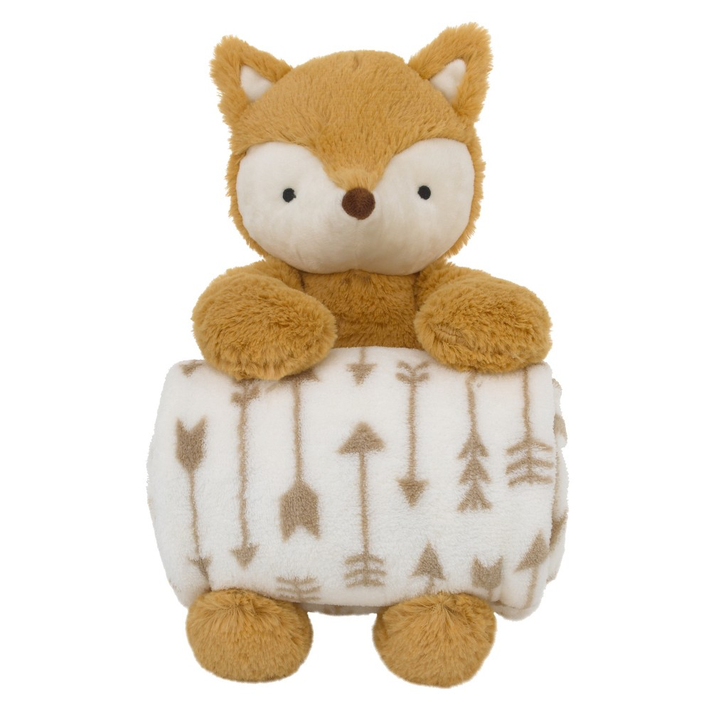 Little Love by NoJo Plush & Blanket - Fox - Orange