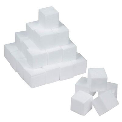 Genie Crafts 36 Pack White Foam Square Blocks for Crafts 2 x 2 x 2 in