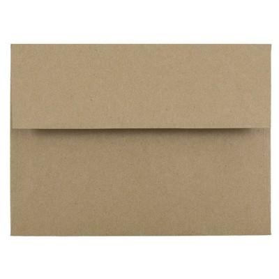 JAM Paper Brown Kraft Paper Bag Envelopes 50pk