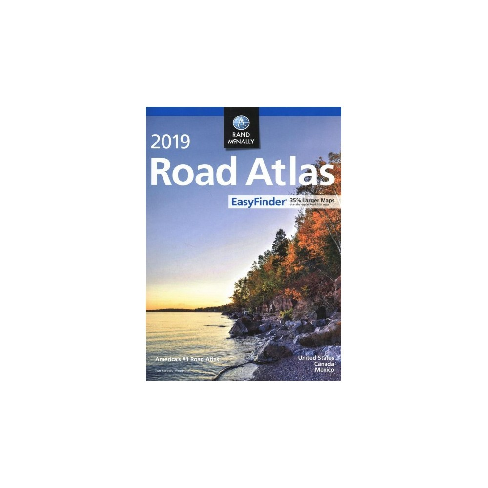 Rand Mcnally 2019 Road Atlas Easy Finder United States, Canada, Mexico - (Paperback)