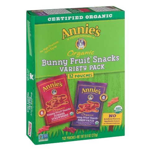Annie's Bunny Fruit Snacks - Variety Pack 12ct - image 1 of 3
