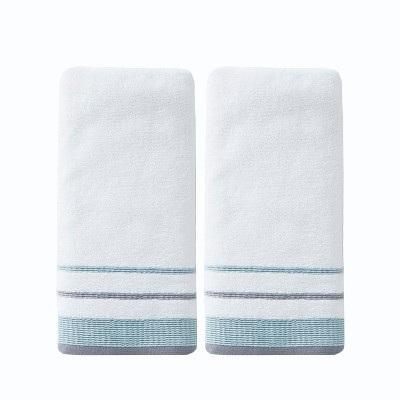 2pc Go Round Hand Towel Bath Towels Sets White - Saturday Knight Ltd.