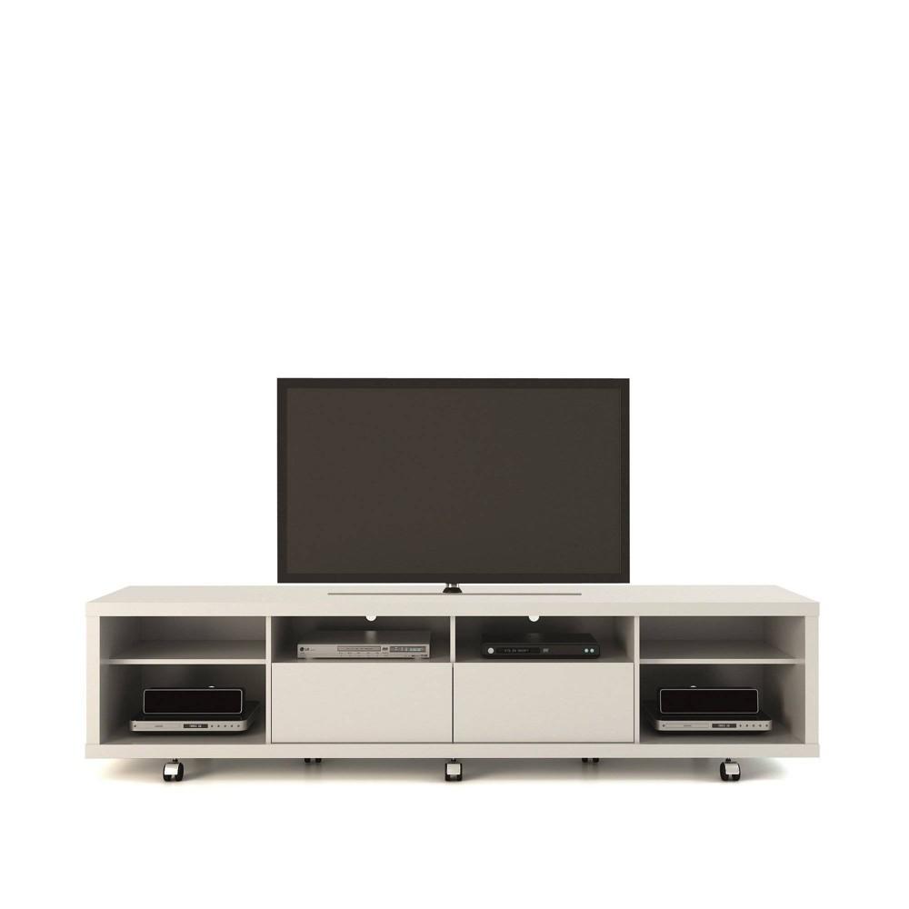 Cabrini TV Stand 2.2 Gloss White - Manhattan Comfort