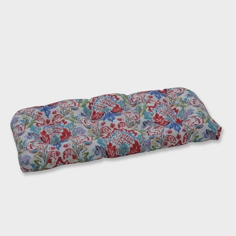 Flying Colors Confetti Wicker Outdoor Loveseat Cushion Pink - Pillow Perfect - image 1 of 2