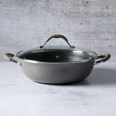 Cravings by Chrissy Teigen 5qt My Go To Aluminum Non-Stick Everyday Pan with Lid Gray