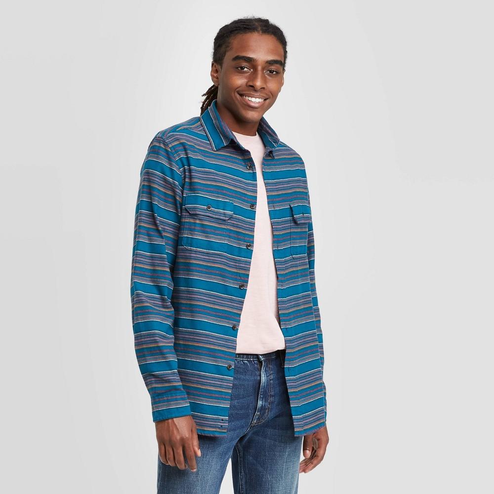 Top Men's Standard Fit 2-Pocket Flannel Long Sleeve Button-Down Shirt - Goodfellow & Co™