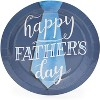 """Blue Panda 80 Pack """"Happy Father's Day"""" Paper Plates with Tie Design, Father's Day Party Supplies, 9 Inch - image 3 of 3"""