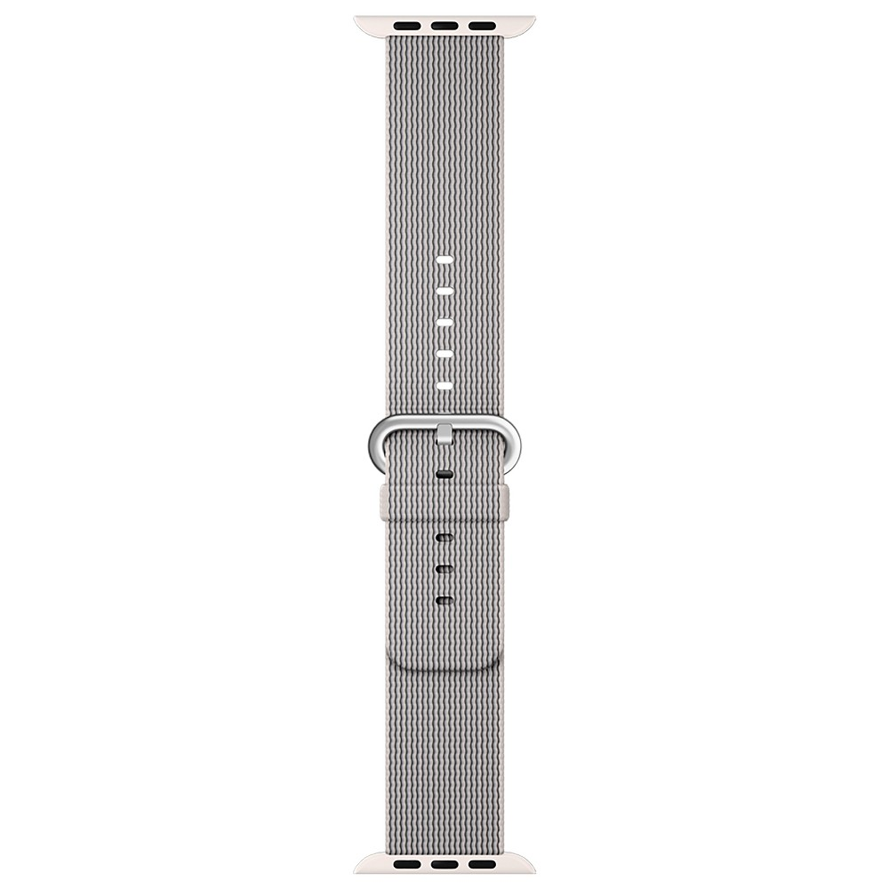 Apple Watch Woven Nylon Band 38mm - Pearl, Adult Unisex