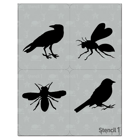"Stencil1® Birds and Bees Multipack 4ct - Stencil 8.5"" x 11"" - image 1 of 3"