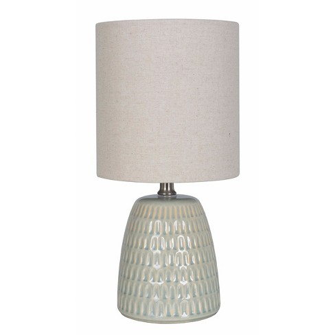 Textured Ceramic Table Lamp Pale Green Only Threshold