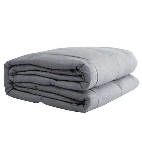 """48"""" x 72"""" 100% Cotton 20lbs Weighted Blanket Silver Gray - Pur Serenity - image 1 of 4"""