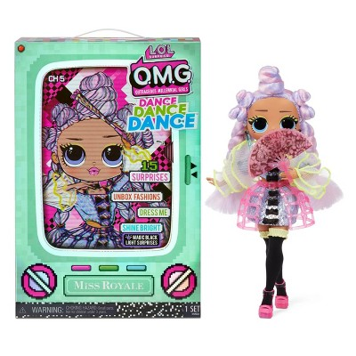 L.O.L. Surprise! OMG Dance Dance Dance Miss Royale Fashion Doll with 15 Surprises Including Magic Blacklight Shoes