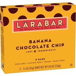 Larabar Banana Chocolate Chip - 5ct 8oz