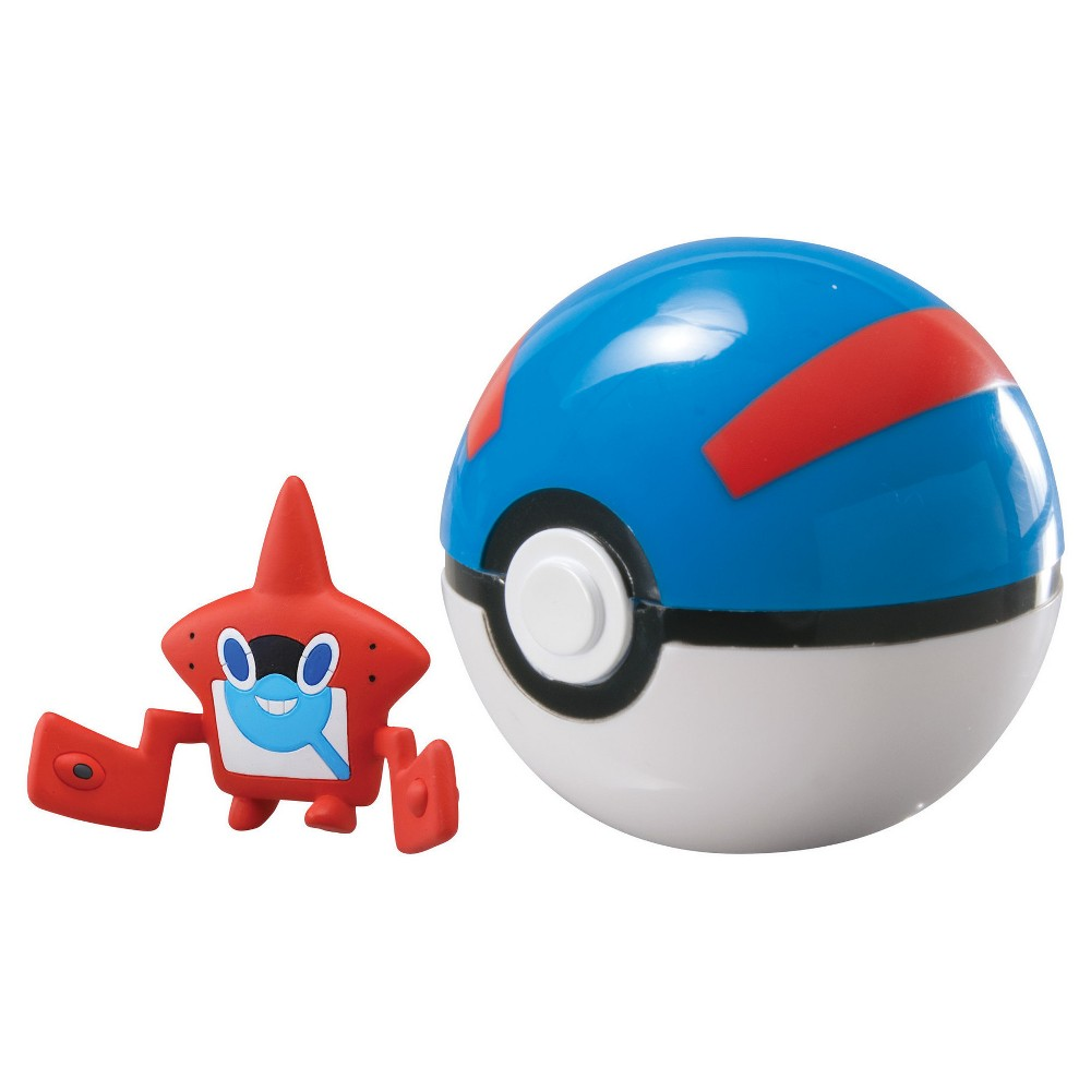 Pokemon Clip 'n' Carry Poke Ball w Figure Machop and Quick Ball
