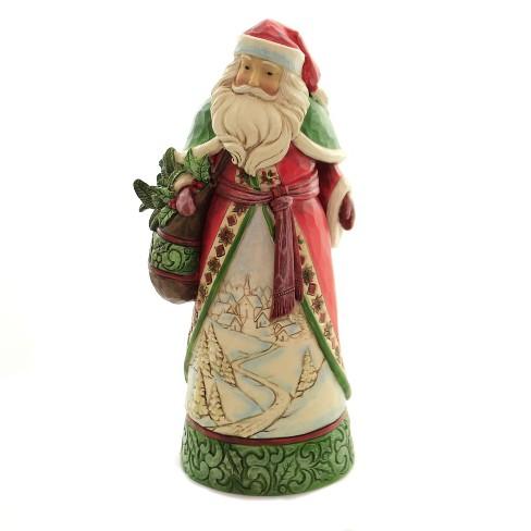 "Jim Shore 10.0"" Christmas Is Calling Santa Winter Scene Satchel - image 1 of 3"