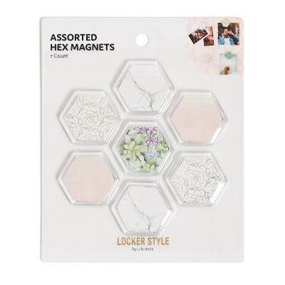 7pk Locker Hex Magnets - U Brands