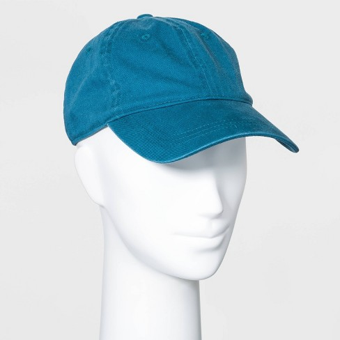 Women's Washed Canvas Baseball Hat - Wild Fable™ Teal - image 1 of 2