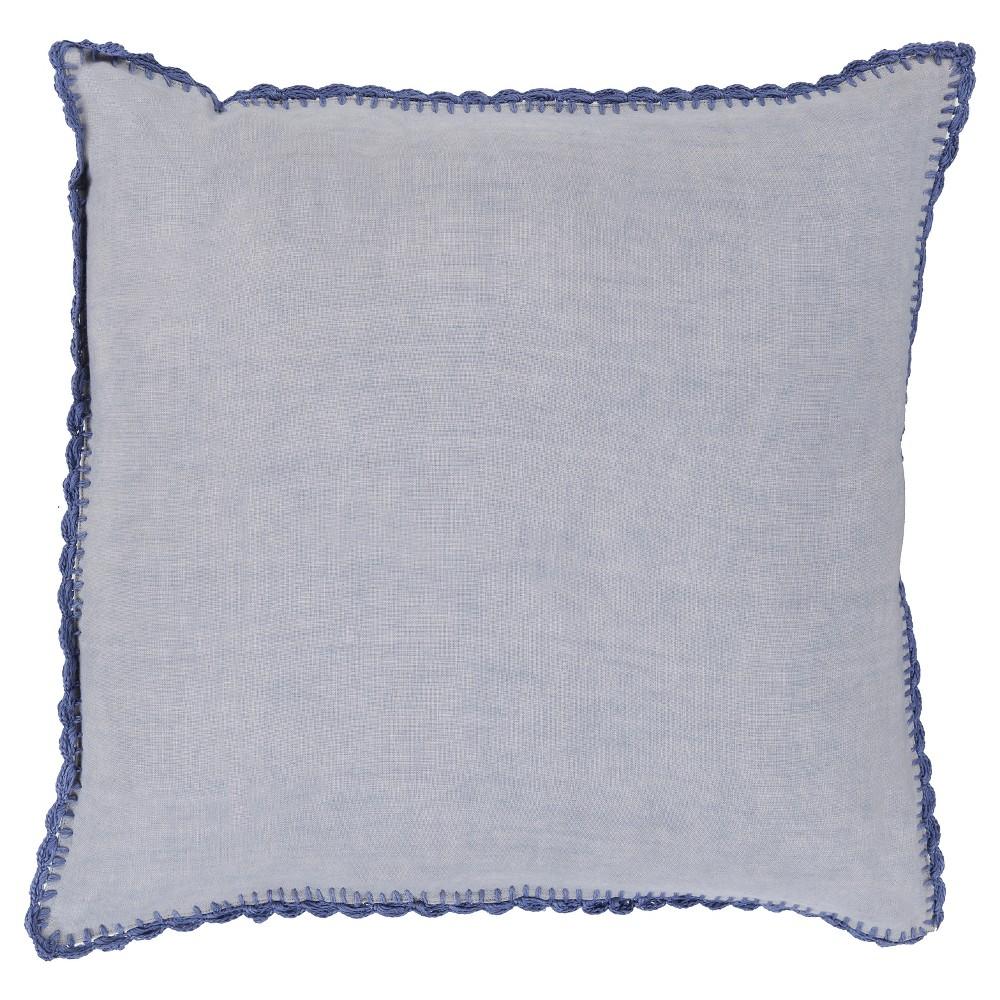 Blue Velletri Throw Pillow 20