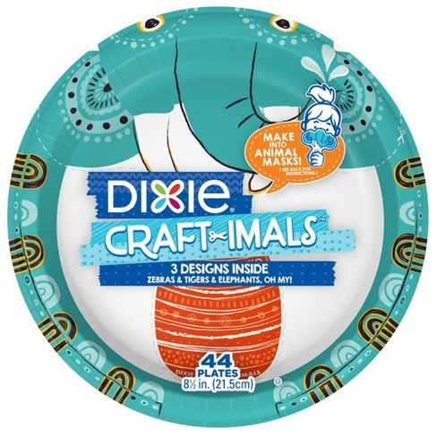 "Dixie Craftimals 8.5"" Disposable Dinnerware - 44ct - image 1 of 8"