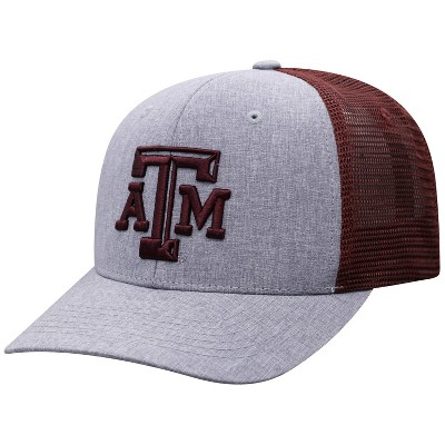 NCAA Texas A&M Aggies Men's Gray Chambray with Hard Mesh Snapback Hat