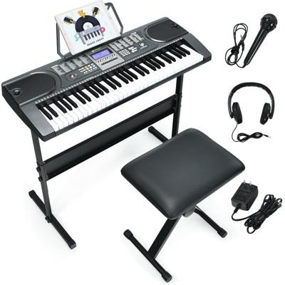 Costway Sonart 61-Key Electronic Keyboard Piano Starter Set w/Stand Bench Headphones