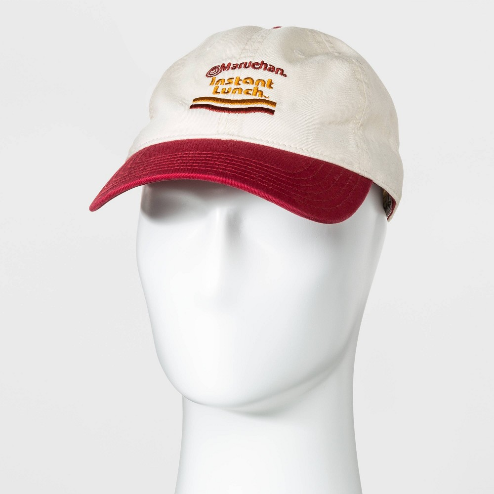 Image of Men's Maruchan Instant Lunch Color-Block Baseball Cap - Beige One Size, Men's