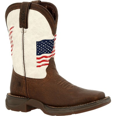 Lil' Rebel by Durango Little Kids Distressed Flag Western Boot