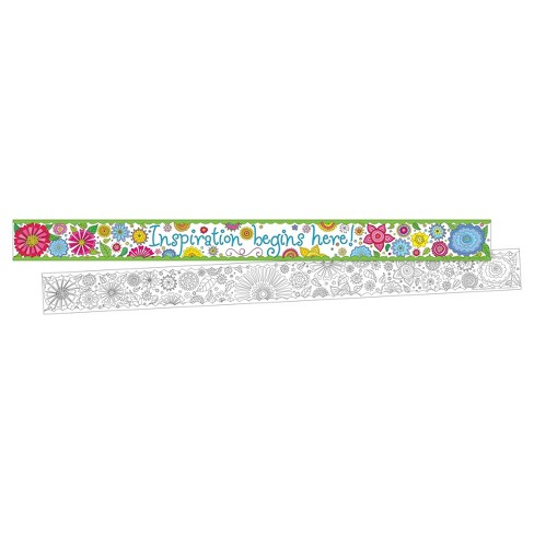 Barker Creek® Bulletin Board Double-Sided Border - Color Me! Garden - image 1 of 4