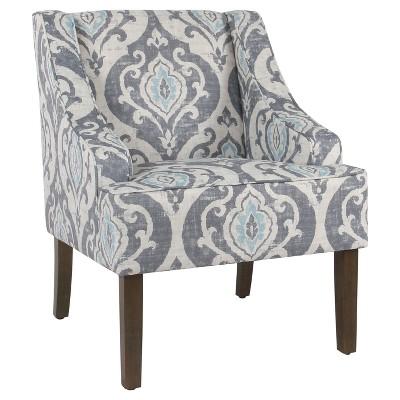 Classic Swoop Accent Chair - Suri Blue - HomePop