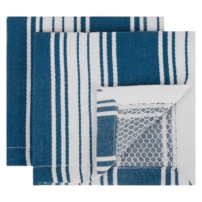 Striped Dish Cloth Blue Set of 2 - Mu Kitchen