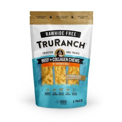 TruRanch Collagen Chicken Rolls Rawhide Free Dog Treats - 3ct