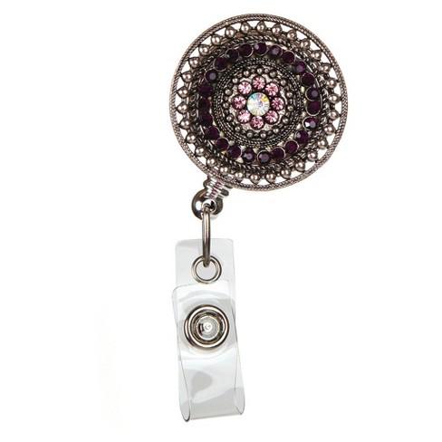 ID Avenue Badge Reel Plum Jewels - image 1 of 1