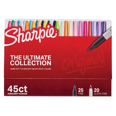 Sharpie 45ct Permanent Markers Fine/Ultra Fine Tip by Sharpie