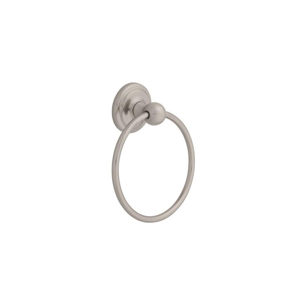 Jamestown Towel Ring Satin Nickel - Liberty