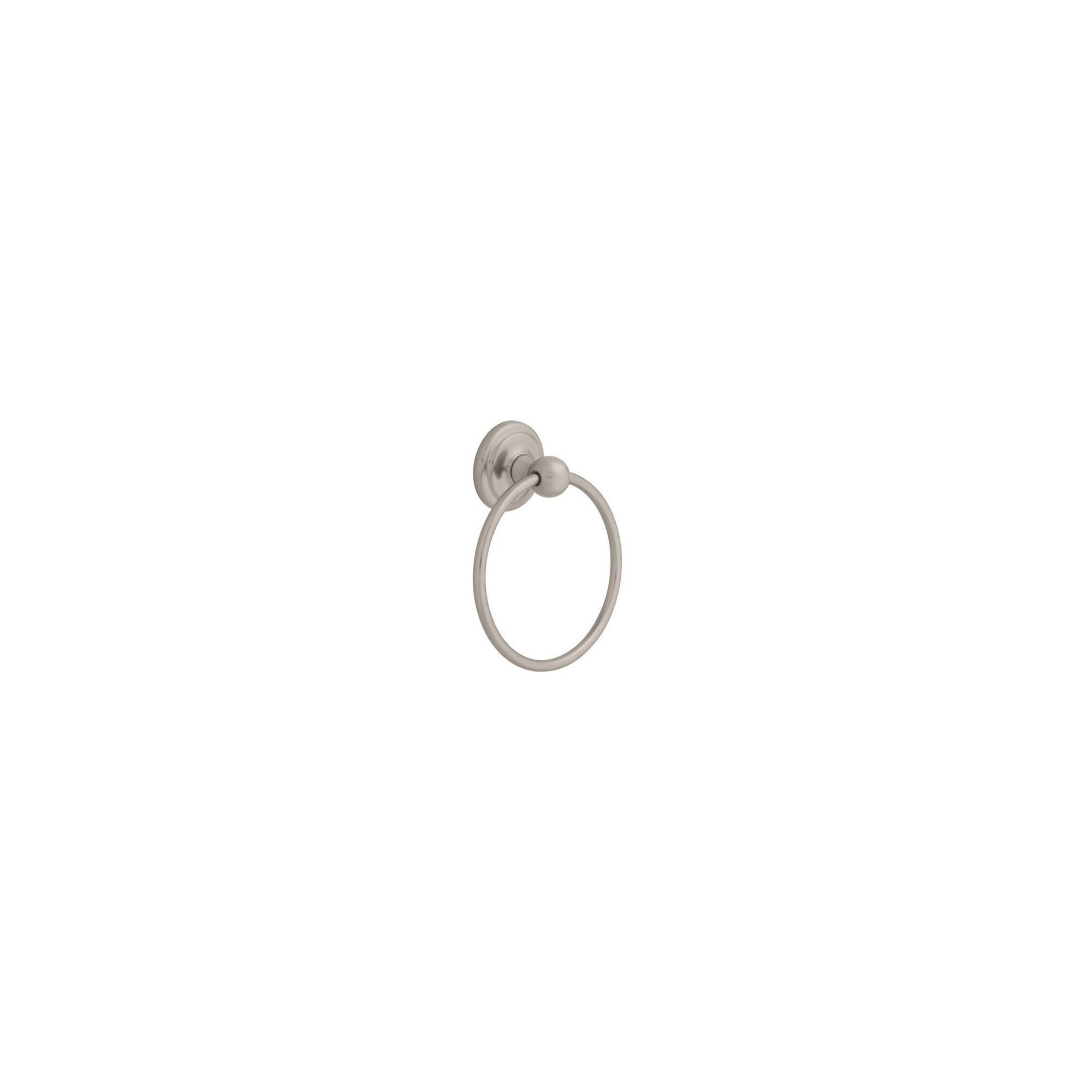 Jamestown Towel Ring Satin Nickel - Liberty, Gray