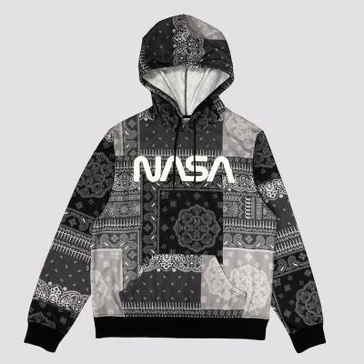 Men's NASA Hooded Graphic Sweatshirt - Dark Gray