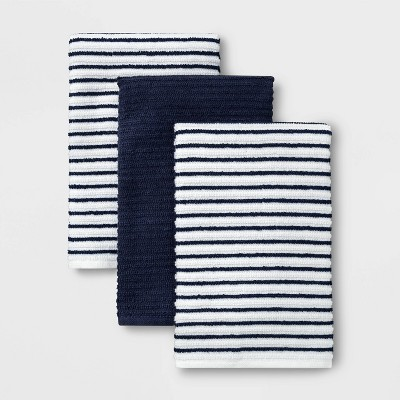 3pk Cotton Striped Barmops Blue - Room Essentials™