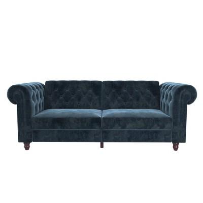 Finnley Velvet Upholstered Sofa Futon - Room & Joy