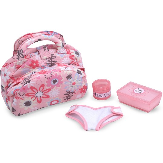 Melissa & Doug Mine to Love Doll Diaper Changing Set With Bag, Wipes, Accessories (7pc) image number null