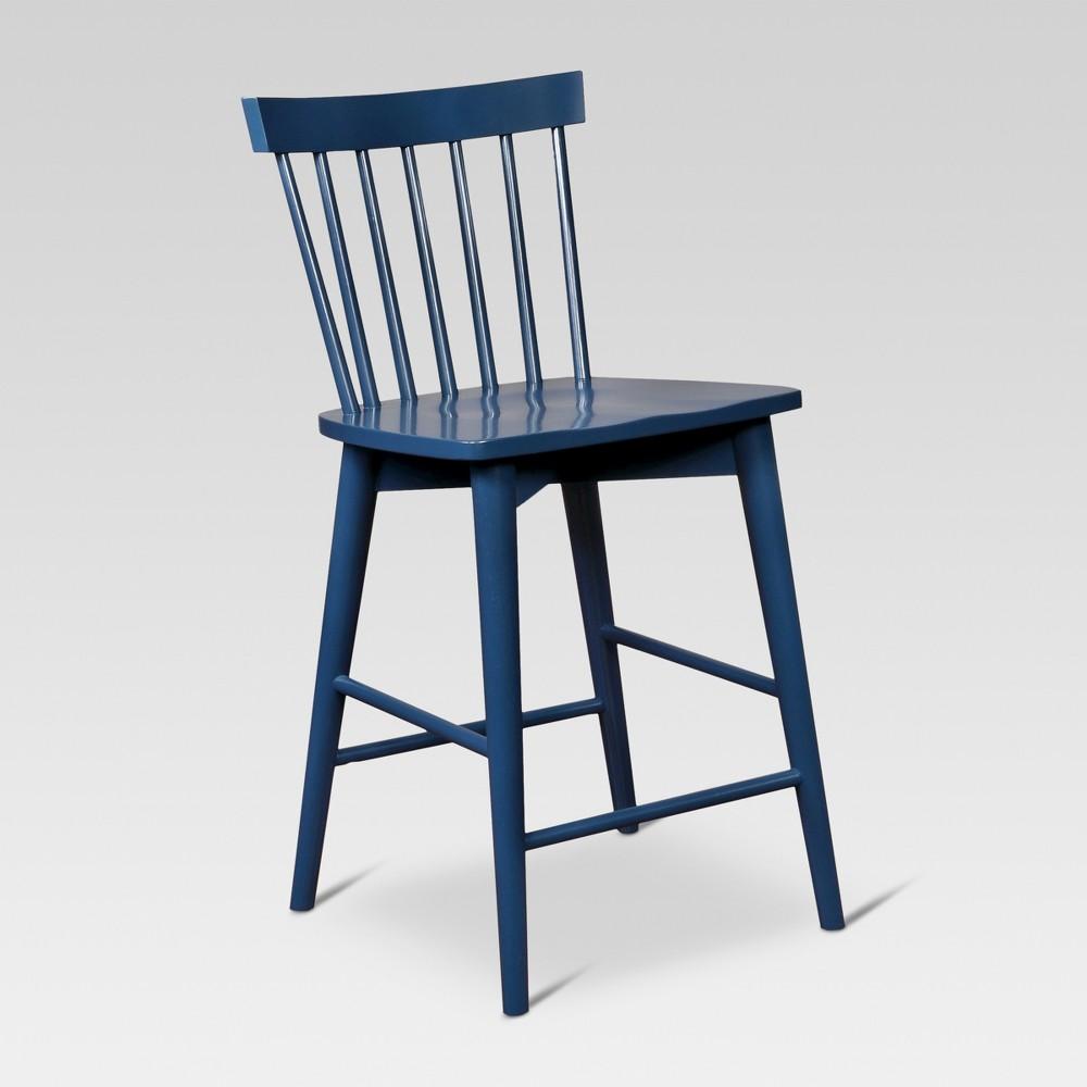 24 Windsor Counter Stool Hardwood - Threshold, Blue