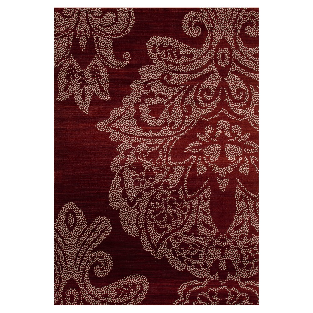 Image of Red Classic Woven Area Rug - (5'X8') - Art Carpet