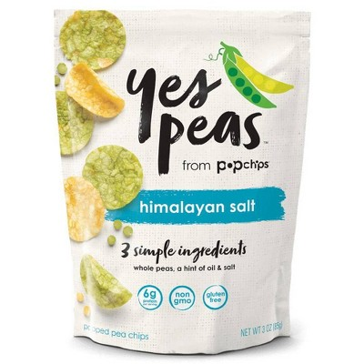 Popchips Yes Pea's Himalayan Salt Vegetable Chips - 3oz